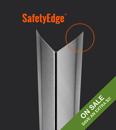 0.048″ / 18 Gauge, 8 ft. Medium Duty Corner Guard with SafetyEdge™